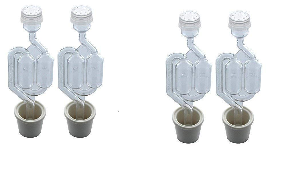 Twin Bubble Airlock and Carboy Bung (Pack of 2) (4 units)