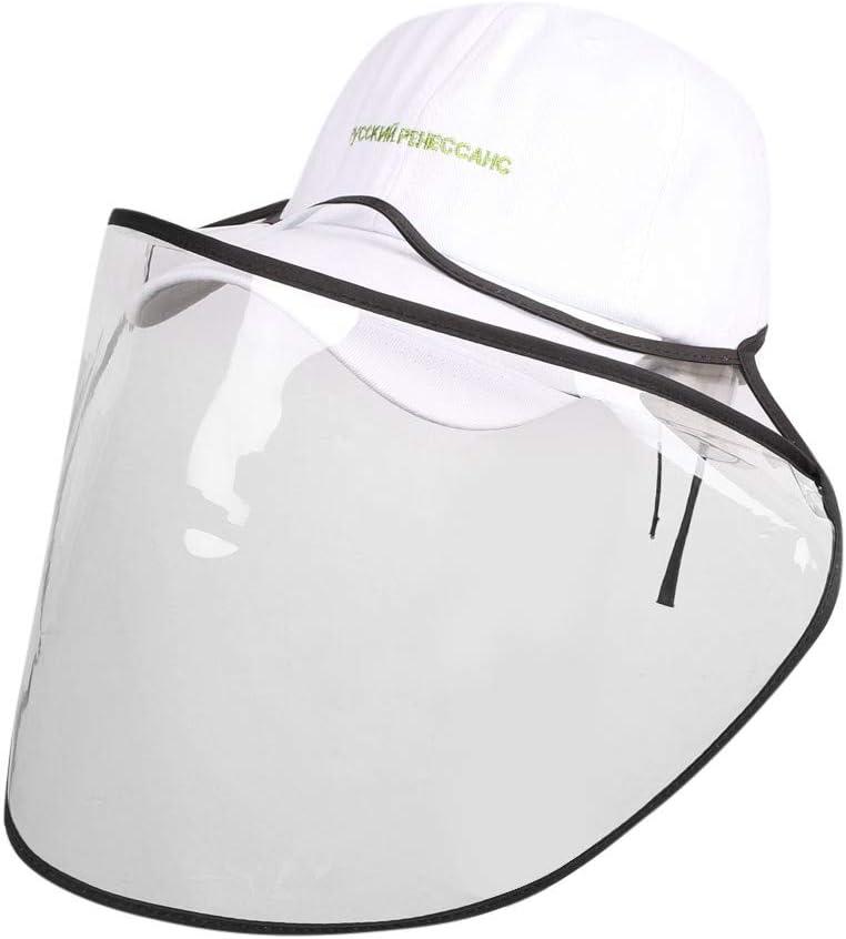 NINGNETI Sombrero Gorra Protector con Facial Visera Gorra Protectora Extra/íBle Antivaho Saliva Anti-saliva Sombrero Al Aire Libre Gorra De B/éIsbol NS-0414A31