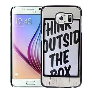 NEW Unique Custom Designed Samsung Galaxy S6 Phone Case With Think Outside The Box_Black Phone Case wangjiang maoyi