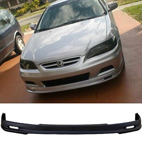 01-02 Honda Accord 2DR Coupe Urethane MU Add-On Front Bumper Lip Spoiler Bodykit