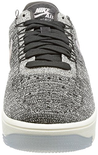 Force Nike Low Blanc Flyknit 1 Air Noir Baskets O6vOS8w
