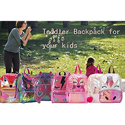 Searock Preschool Backpack Lightweight Water Resistant Toddler Backpack for Kindergarten Girls Boys 1-6 Years Old Wing Unicorn | Kids' Backpacks