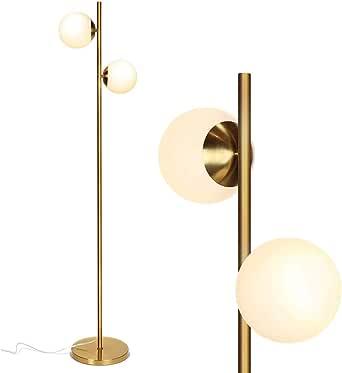 Lámparas de pie Esfera de suelo LED lámpara- moderno contemporáneo esmerilado Lámpara Globo de cristal con 2 Lámpara- poste alto de pie Aplique de la lámpara for la sala de estar, estudio,