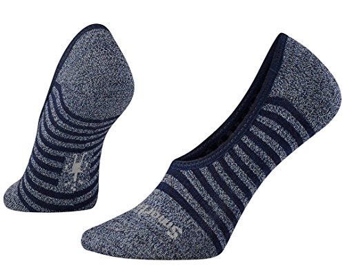 Smartwool Womens Premium Stripe Hide and Seek No Show Socks (Blue Ice Heather) Medium