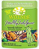 Wellness Healthy Indulgence Natural Grain Free Wet Cat Food, Turkey & Chicken, 3-Ounce Pouch (Pack Of 24)