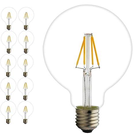 10X Lámparas Bombillas de Filamento LED edison e27 globo ...