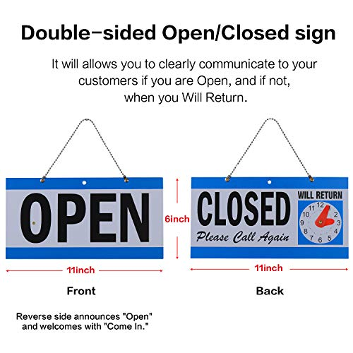 LED Open Sign,23x14inch Larger LED Business Sign,Advertisement Display Board Flashing & Steady Light Open Sign for Business, Walls, Window, Shop, Bar, Hotel by Datedirect (Image #5)
