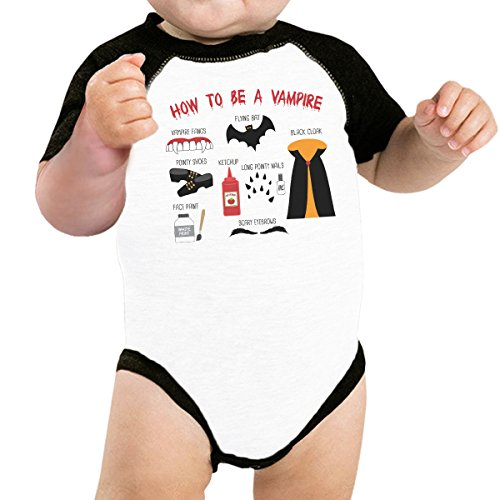 0 essere ragazzo mesi vampiro passo 365 corte unica A Bambino maniche Stampa da Taglia Body un 24 Come TffZqOY