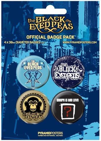 Black Eyed Chapas Pin Set (Pack de 4 Pins) Pyramid International: Amazon.es: Hogar