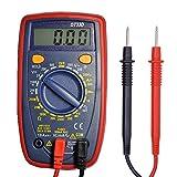 Digital Multimeter, Bovini Voltmeter Digital Ammeter Ohmmeter with Resistance,Continuity Diode Test, AC/DC Voltage, DC Current, Ohm Volt Amp, Square-wave Output