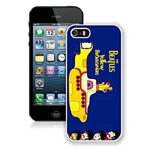 Unique iPhone 5 5S Case ,Popular And Durable Designed With beatles yellow submarine White iPhone 5 5S Cover