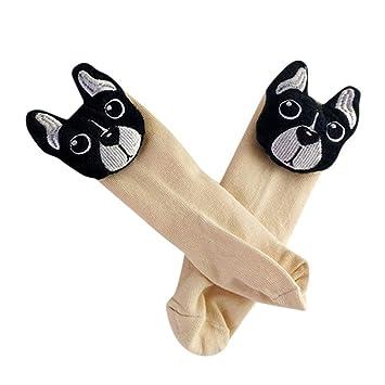 ZHRUI Zapatos de Calcetines Antideslizantes para niños pequeños Botas Calcetines para niños pequeños Niños Bebés Niños 3D Perro de Dibujos Animados 3D ...