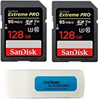 SanDisk 128GB (Two Pack) Extreme Pro Memory Card...