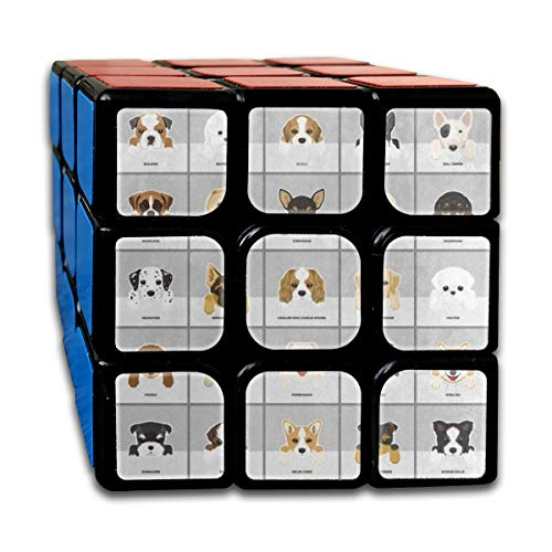 Dog Pug Puppy Chihuahua Fabulous Speed Cube 3x3 Smooth Magic Square Puzzle Game Black]()