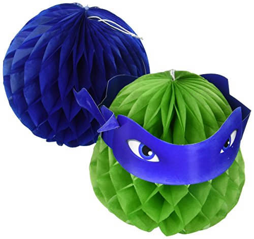 Ninja Turtle Table Decorations (Amscan TMNT Honeycomb Decorations, Party)