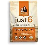 Rachael Ray Nutrish Just 6 Natural Dry Dog Food, Lamb Meal & Brown Rice Recipe, 6 lbs