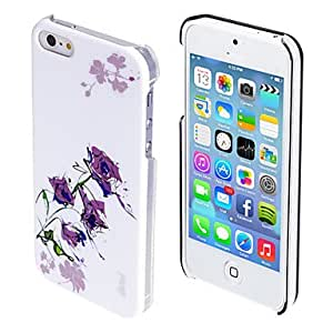MOFY- Estuche negro de rosas de color dibujo del patr—n duro para iphone5/5s (colores surtidos)
