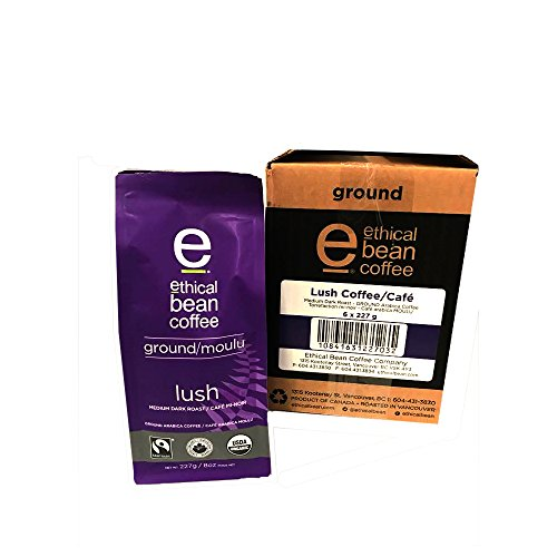 Ethical Bean Coffee - Lush Ground Coffee 8 oz (Pack of 6)