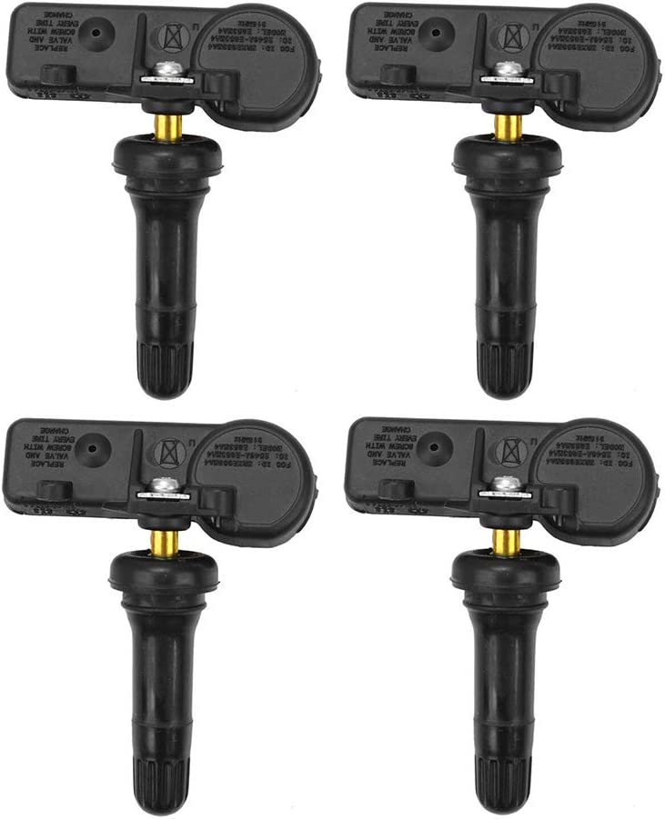 for 2007-2014 Buick 2006-2014 Cadillac 2006-2015 Chevrolet 2007-2015 GMC 2008-2010 Pontiac Pack of 4 Ensun 13586335 Tire Pressure Monitoring System Sensor TPMS Sensor 315 Mhz