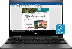 HP Envy x360 2-in-1 13.3in FHD Touch-Screen Premium Build Laptop Computer, AMD Ryzen 5 2500U up to 3.6GHz, 8GB RAM, 128GB SSD, WiFi, Bluetooth, Windows 10 (Renewed)