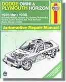 H30035 Haynes Dodge Omni Plymouth Horizon 1978-1990 Auto Repair Manual
