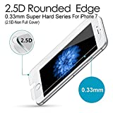 iPhone 7 Premium Tempered Glass Screen Protector (1 Pack) 3D Touch Super Hard 0.33mm By Magpire 2.5d-Extreme Hard Series [iPhone 7 (2.5D Non Full Cover)]