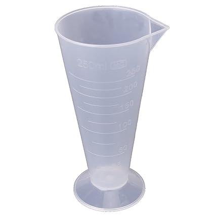 MagiDeal Químico Plástico Transparente Envase Frasco Matraz Erlenmeyer Contenedor Botella - 9