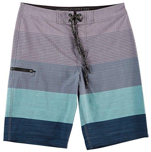 Distortion Mens Board Shorts, Long Swim Trunks for Surf and (Guys Swim Trunks)