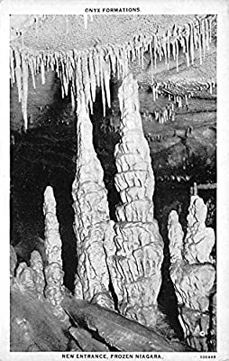 Caves Post Card Frozen Niagara, Mammoth Cave Kentucky, USA Unused