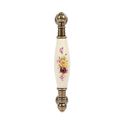 Maniglie dell\'armadio, Asixx Vintage modello di fiore rurale in ...
