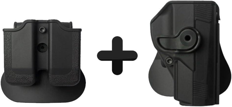 IMI Militar Tactical Roto Holster + Doble portacargador BERETTA PX4STORM .45Compact $ Tamaño Completo