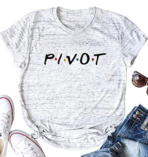 Women Teen Girls Pivot Friends TV Show T Shirt Merchandise Funny Summer Short Sleeve Tee