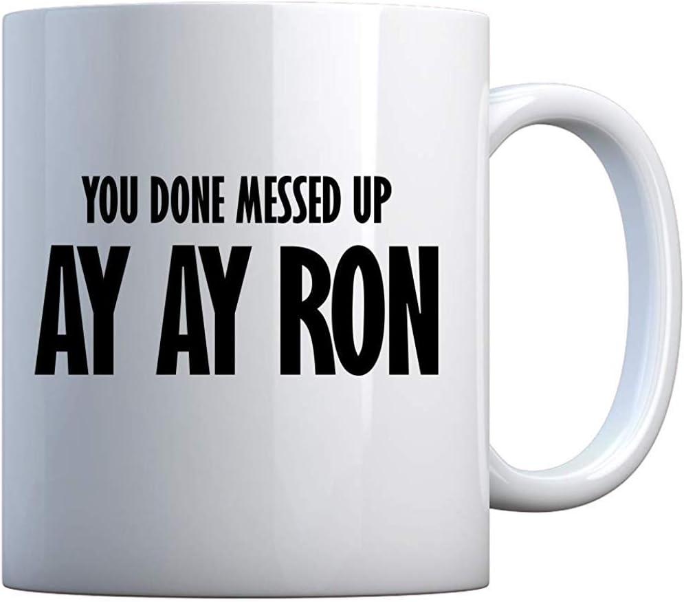 Taza que has desordenado Taza de regalo blanca de Ay Ay Ron ...