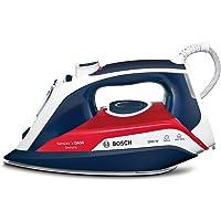 Bosch Sensixx'x DA50 Plancha de vapor, 3000 W, 350 milliliters, Cerámica, 5 Velocidades, Azul/Rojo/Blanco