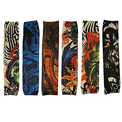 6pcs Body Art Fake Temprary Tattoos Arm Tattoo Sleeves for ...