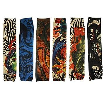 6pcs Body Art Fake Temprary Tattoos Arm Tattoo Sleeves for ...