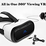 "3D VR Headset All in One, Tsanglight 360° Viewing Android 5.1 Virtual Reality Headset 5"" 19201080 HD Screen VR Glasses - 2GB RAM, BT 4.0, Support WIFI/HDMI/Apps (Phone No Needed, Christmas Gifts)"