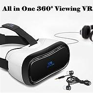 3d VR casque tout en un, Bevifi 360° de vision Android 5.1Casque de réalité virtuelle 5¡± 1920* 1080HD écran VR Lunettes–2Go de mémoire RAM, BT 4.0, prise en charge Wifi/HDMI/visualisation (téléphone n'est Nécessaire, cadeaux de Noël)