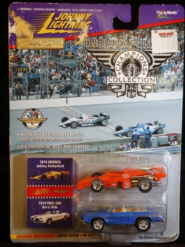 Johnny Lightning Indianapolis 500 Champion Collection 1974 Winner Johnny Rutherford & Pace Car Hurst Olds