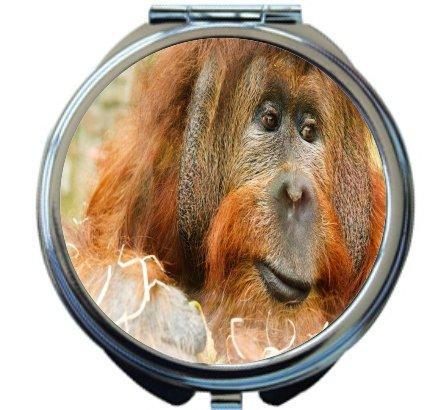 Rikki Knight Orangutan Design Round Compact Mirror by Rikki Knight