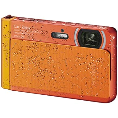 Sony DSC-TX30/D 18 MP Digital Camera with 5x Optical Image Stabilized Zoom and 3.3-Inch OLED (Orange)