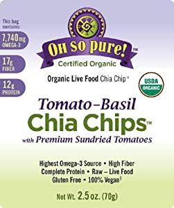 Oh So Pure! Organic Chia Seed Chips - Tomato-Basil