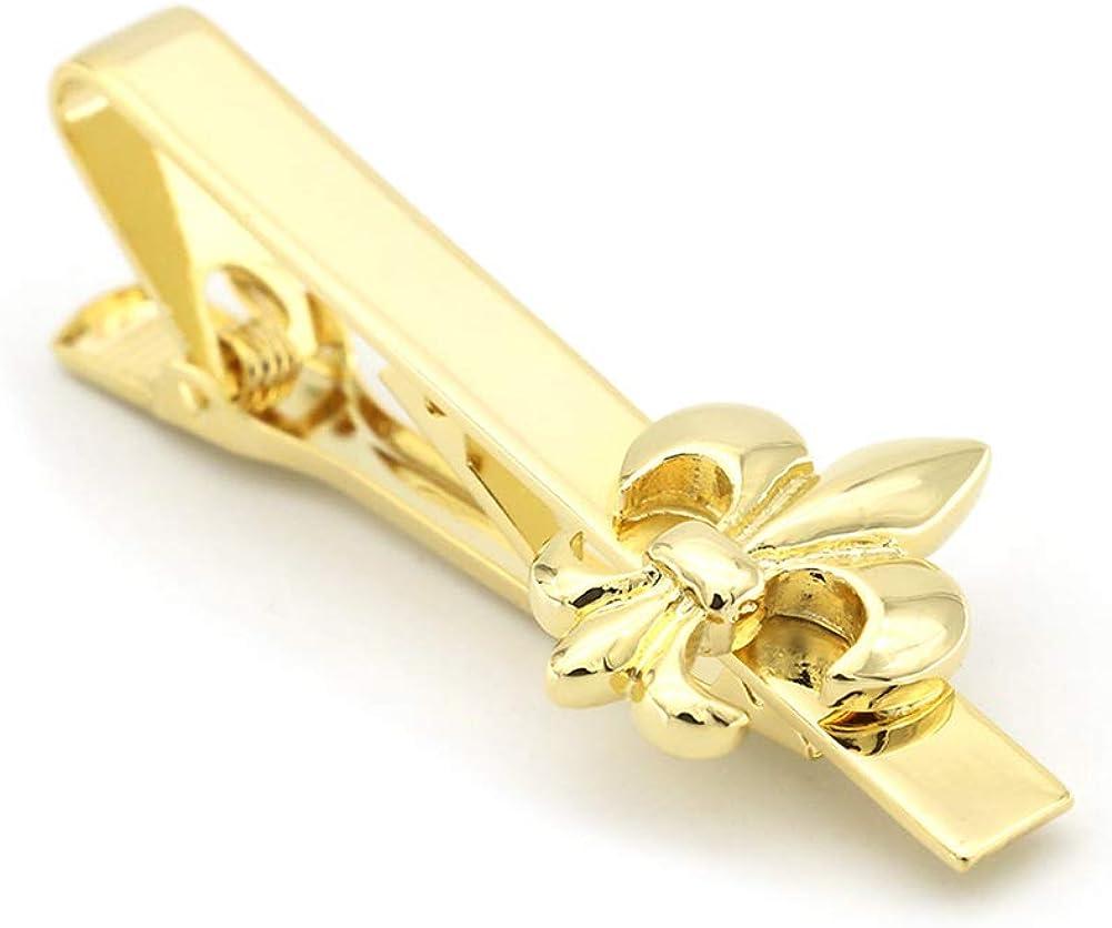 Vcufflinks Fleur De Lis Gold Tie Clip