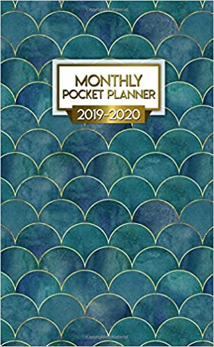 2019 2020 monthly pocket planner nifty dark blue two year mermaid scale monthly pocket planner with phone book password log and notebook cute 2 year calendar organizer and agenda