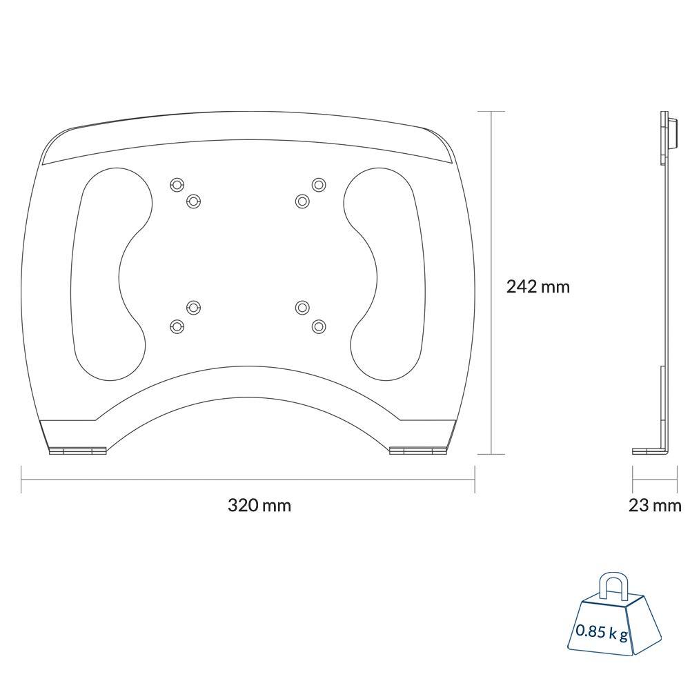 hasta 8 kg Negro ARCTIC Z2-3D Mejora y Hace que la Posici/ón de Sentado sea Ergon/ómica - Brazo de Monitor Doble hasta 34//29 Ultrawide Rotaci/ón de 360/° Gen 3 SuperSpeed USB Hub para 4 Puertos