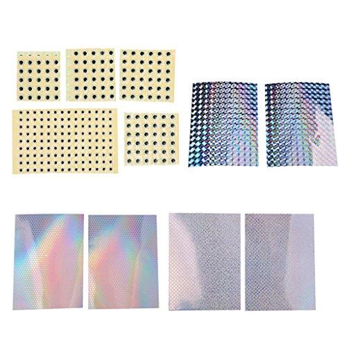 Flameer Cinta Adhesiva A Escala 6Pcs Cinta Adhesiva Holográfica Para Hacer Señuelos Y Ojos 3D De 5 Mm 7 Mm