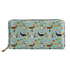 HUGS IDEA Women's Long Wallet Animal Prints Welsh Corgi Pembroke PU Leather Purse 1
