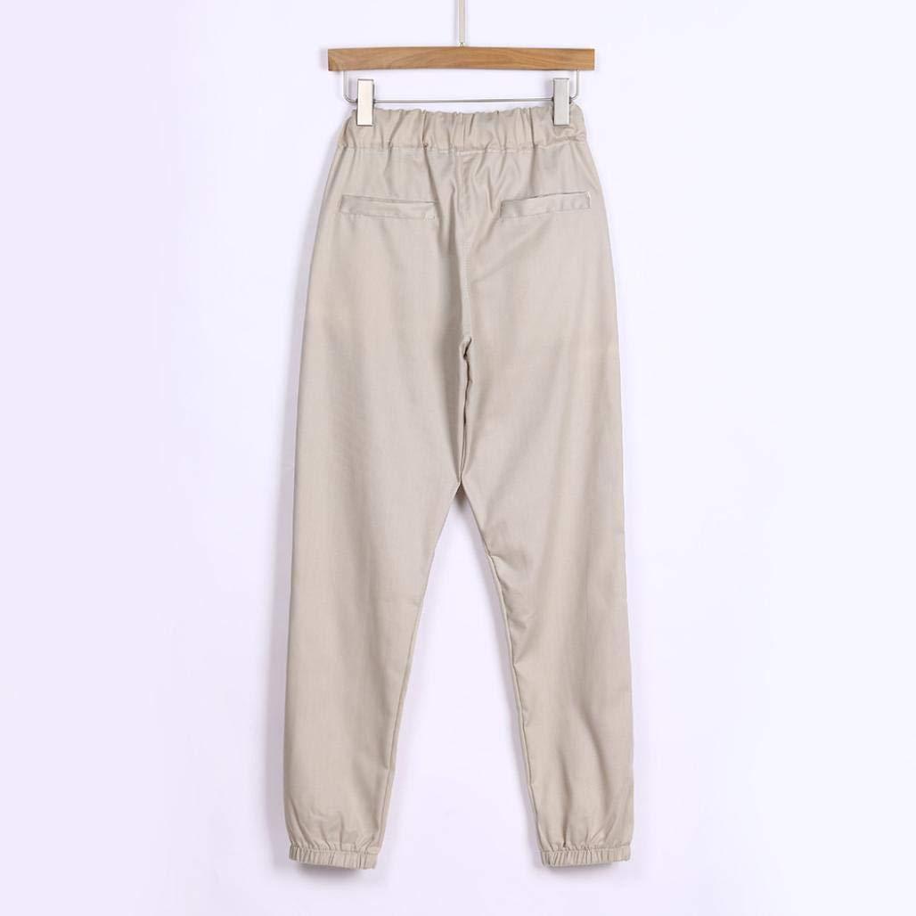 ZODOF Pantalones Casuales de los Hombres de la Cremallera de Moda Pantalones de chándal de los Hombres Pantalones de Cremallera Holgados Bolsillos Holgados ...