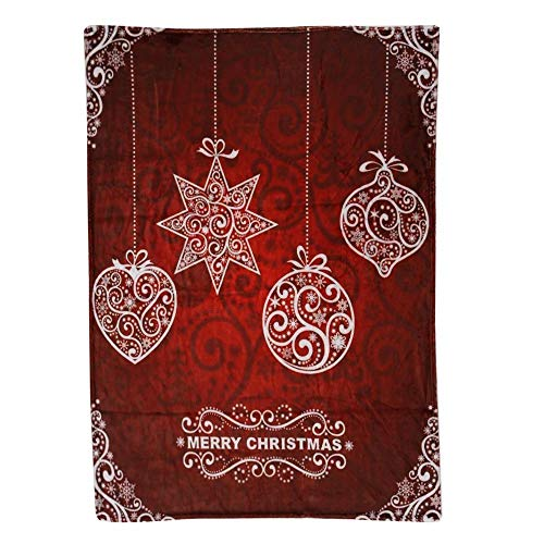 y Blanket Red Queen Throw Lightweight Cozy Plush Microfiber uper Soft Solid Blanket for Bed Couch and Birthday Gift Blankets (E) ()