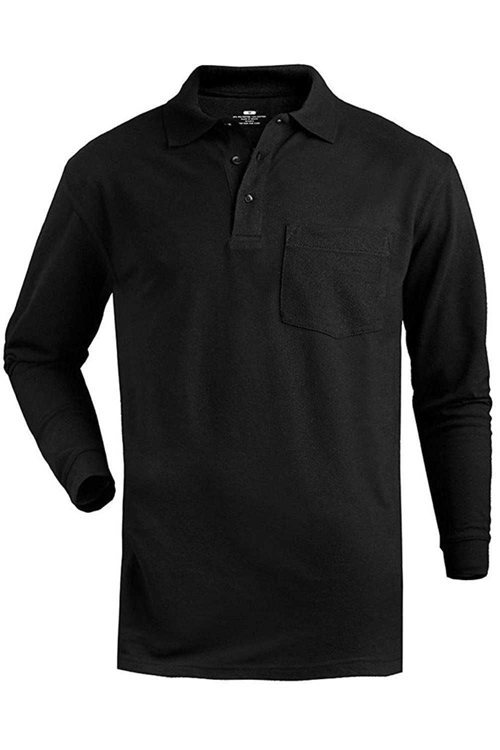 Black t shirt collar - Romano Men S Full Sleeve Polo T Shirt With Pocket Amazon In Clothing Accessories
